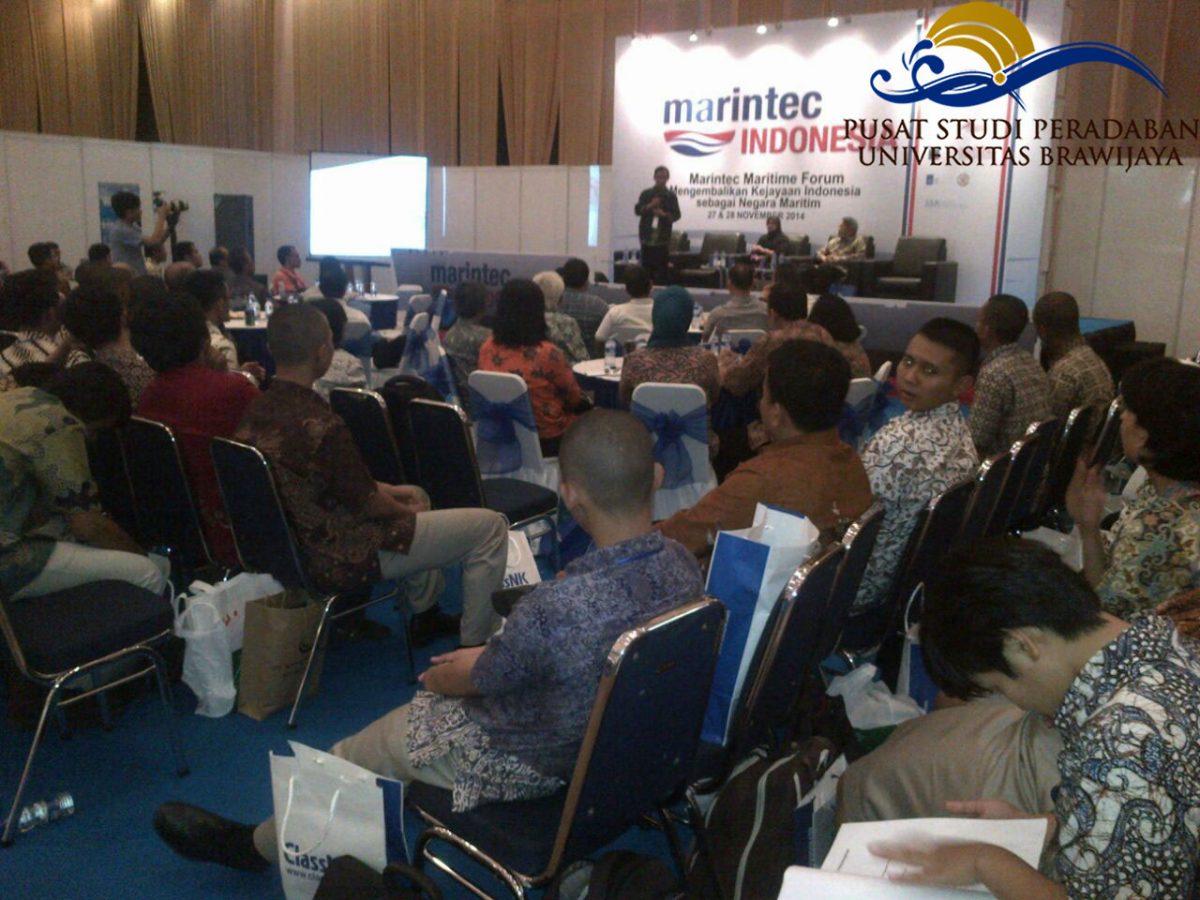 PSP; Pusat Studi Peradaban; Dr. Moh Fadli; S.H.; M.H.; Konferensi Marintec; pertama kali di Indonesia; 27 dan 28 November 2014; Puslit Peradaban; PPP; Pusat Penelitian Peradaban; Marintec Indonesia 2014