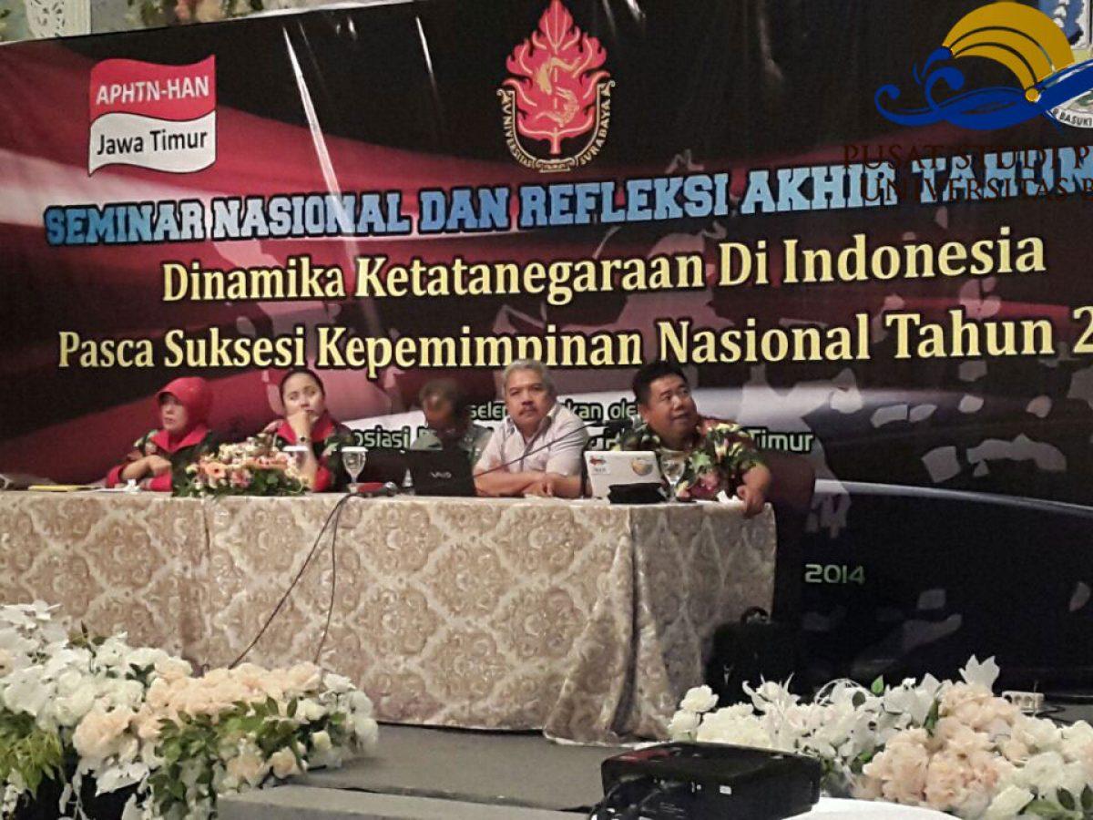 PSP; Pusat Studi Peradaban; Dr. Jazim Hamidi; Seminar Nasional; Refleksi Akhir Tahun; Asosiasi Pengajar HTN-HAN; APHTN-HAN; 2014; Empire Palace Hotel; Surabaya; 16-17 Desember 2014; Puslit Peradaban; PPP; Pusat Penelitian Peradaban