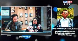 PSP; Pusat Studi Peradaban; Verdy Firmantoro; wawancara on air; wawancara; on air; Selasa 29 Januari 2019; RRI Pro 4 Jakarta; RRI