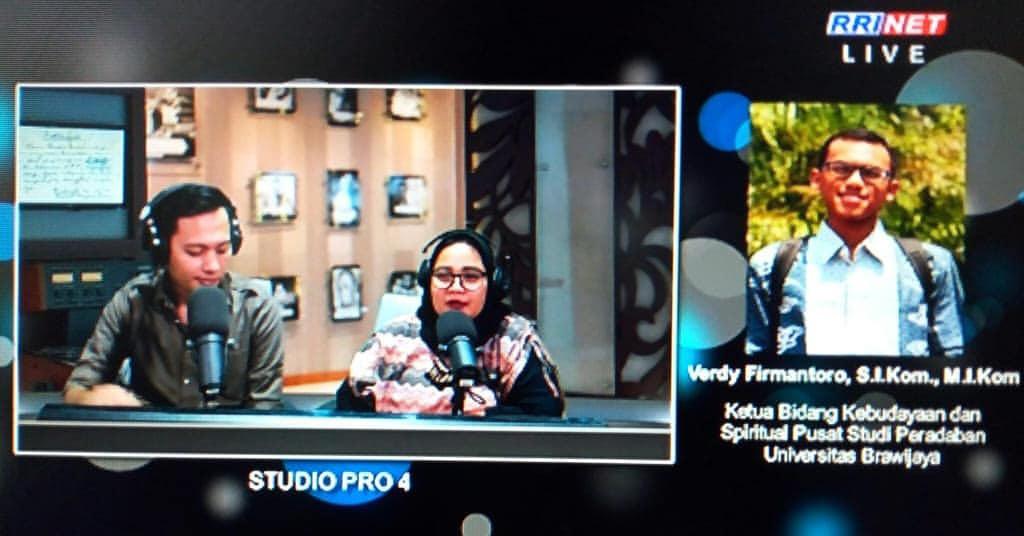 PSP; Pusat Studi Peradaban; Verdy Firmantoro; wawancara on air; wawancara; on air; Selasa 29 Januari 2019; RRI Pro 4 Jakarta; RRI; keris